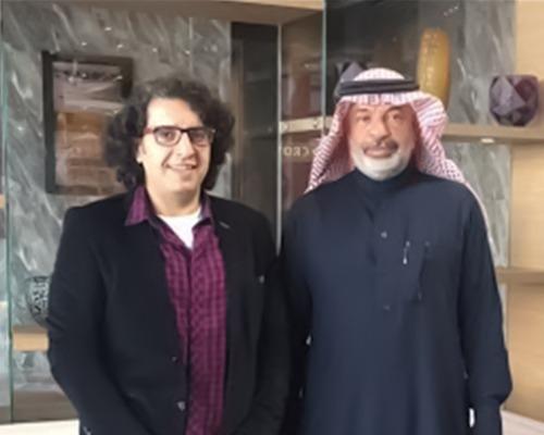 فؤاد بدوي وهو مستشار عقاري معتمد في تركيا مع المستثمر في تركيا فهد الموسى
