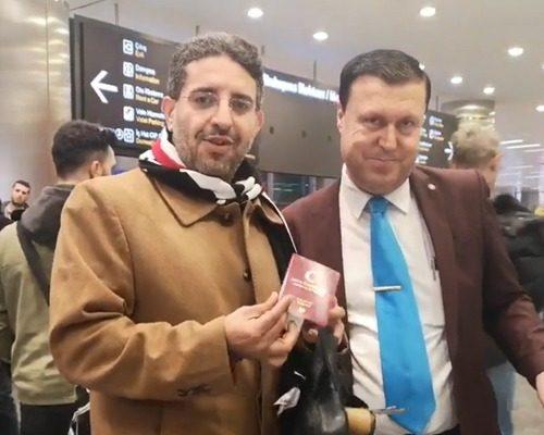 فؤاد بدوي وهو مستشار عقاري معتمد في تركيا يقوم باستخراج أول جنسية تركية لمستثمر من خلال الاستثمار العقاري